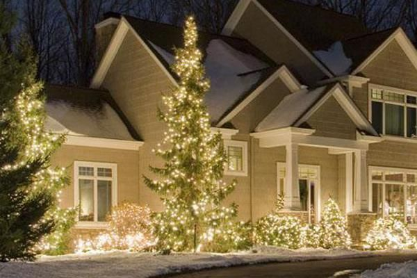 Decorating Home Landscaping Ideas Front Yard Outdoor Light Up .