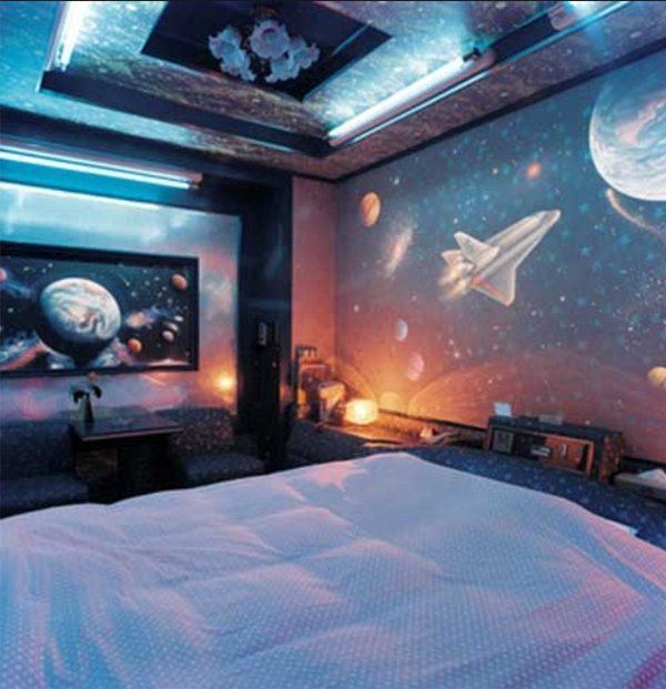 50+ Space Themed Bedroom Ideas for Kids and Adults | Outer space .