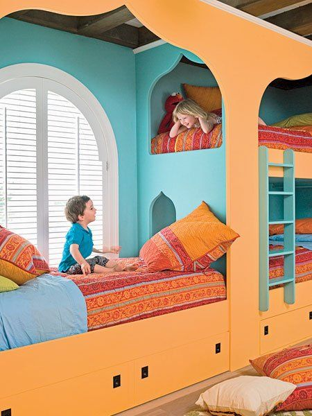 Shared bedrooms - decorating ideas for boys and girls | Kids room .