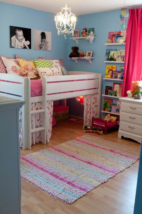 Mini loft bed to make a fort. How cool is that concept!! Fun .