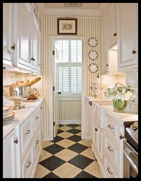 Small Galley kitchen can be elegant done right | Galley kitchen .