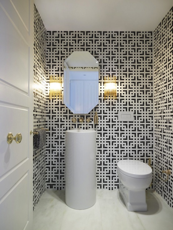 Geometric Bathroom Tiles - Contemporary - bathroom - Greg Nata