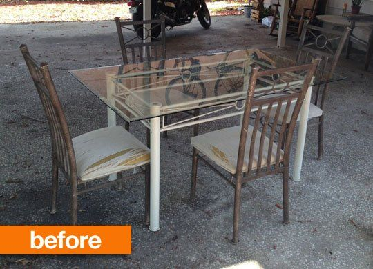 Before & After: Patio Table Gets Rustic Chic Makeover in 2020 .