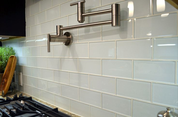 clear frosted glass subway tile backsplash - Google Search | Glass .