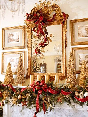 43 Festive DIY Christmas Garland Ideas | Gold christmas .