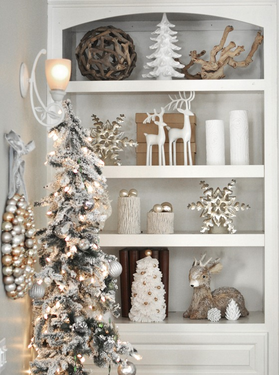 Top 40 Elegant And Dreamy White And Gold Christmas Decoration .