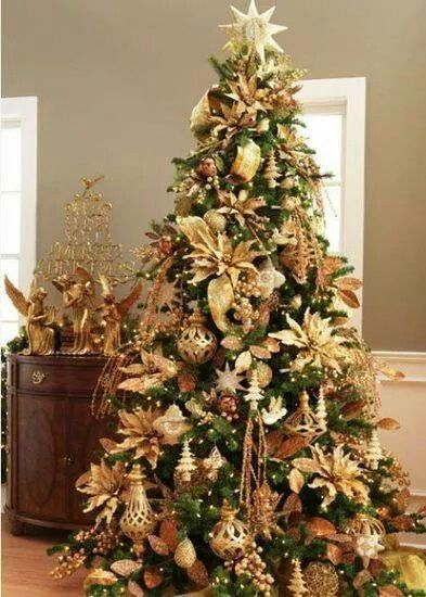 Gold Christmas Decoration Ideas | Gold christmas decorations .
