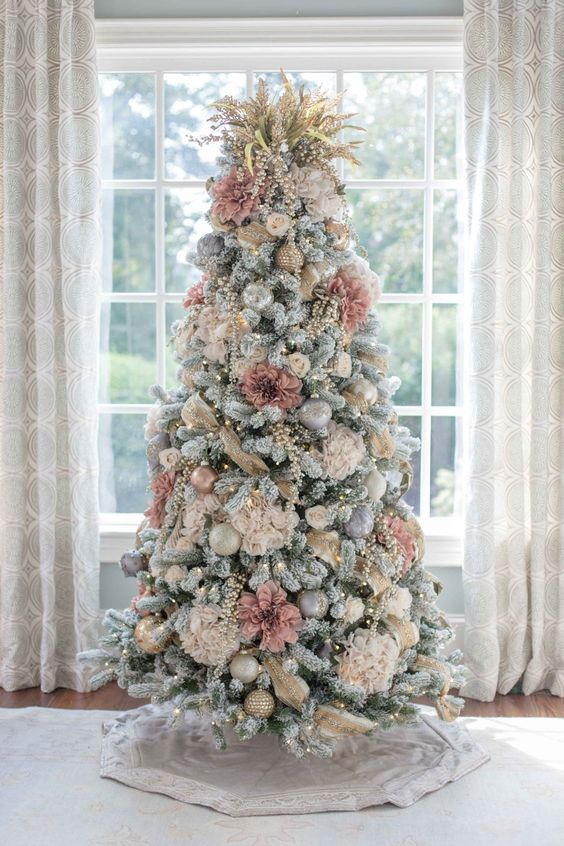 36 Rose and Gold Christmas Tree Decorating Ideas 2018 - Page 16 of .