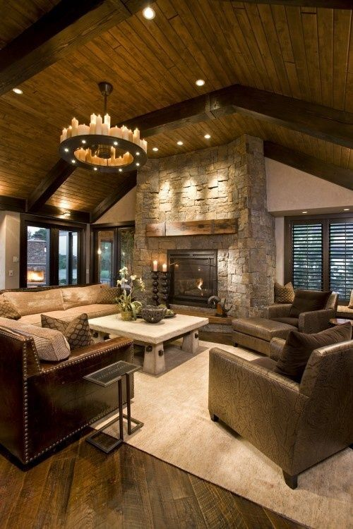 Gorgeous Rustic Living Room Design Ideas