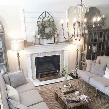 65 Gorgeous Rustic Farmhouse Living Room Design and Decor Ideas .