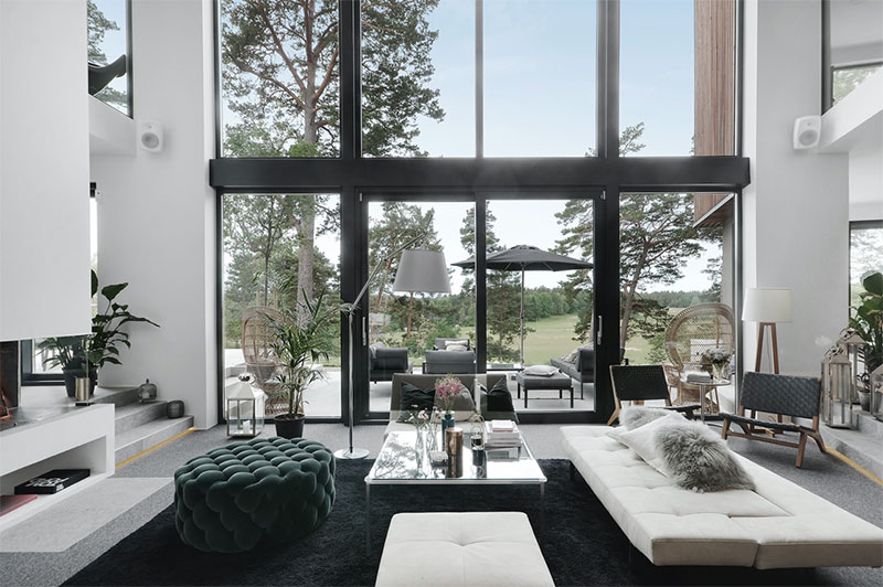 Modern villa with high ceilings in Sweden 〛 ◾ Photos ◾Ideas .