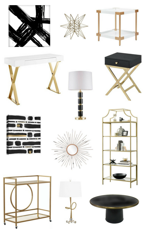 Black White & Gold Target Finds to Decorate Your Home — Whittaker .
