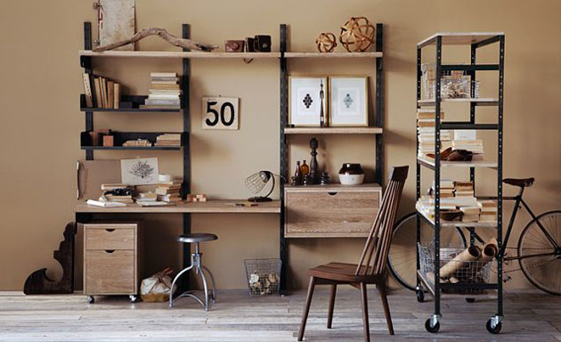 17 Phenomenal Industrial Home Office Design Ide