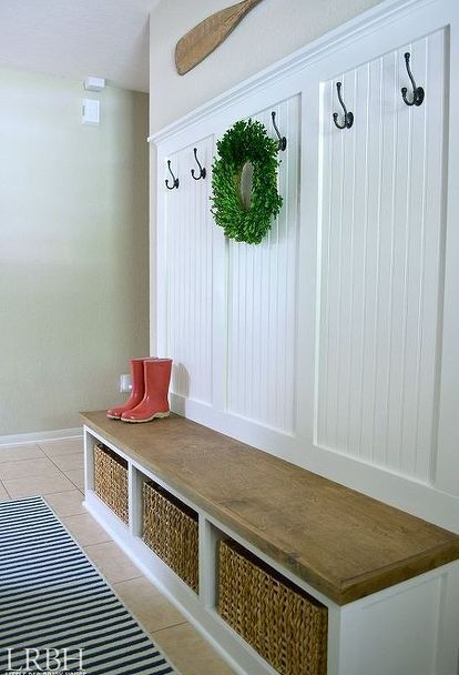 DIY Entryway Mudroom | Home projects, Renovation, Foyer decorati