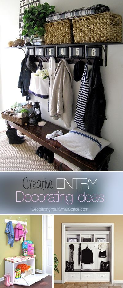 Small Entry? Great Ideas | Home deco, Home, Home projec