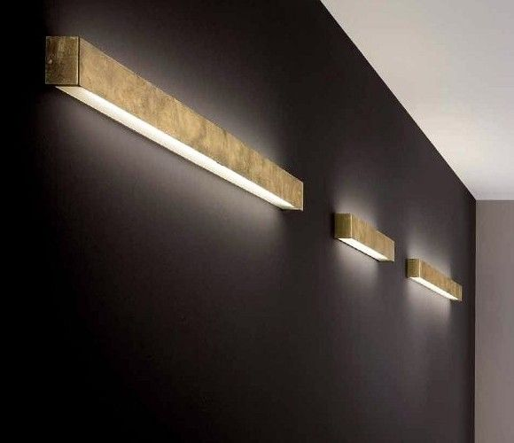 wide DIY-friendly box sconces for indirect lighting (would work .