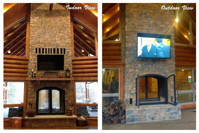 Acucraft Fireplaces: Custom See Through Wood Burning Indoor .