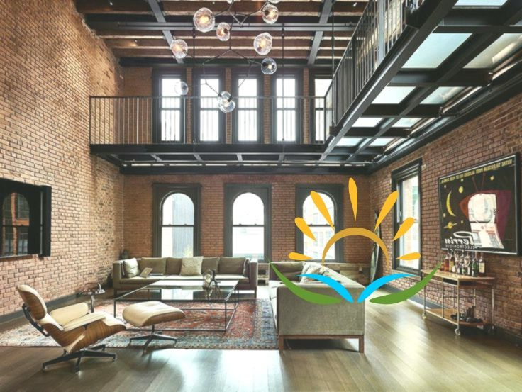 Industrial style penthouse in TriBeCa Modern Industrial: 1890's .