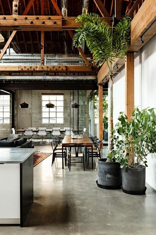 Dreamy Rustic Homes & Gardens | Warehouse living, Loft design .