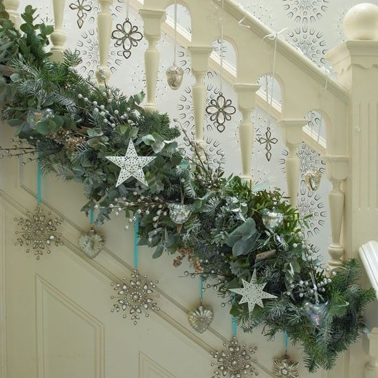 Chloe's Inspiration ~ Christmas Decoration for your Staircase .