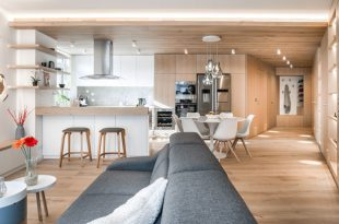 The Interior Of This Apartment Is Filled With Wood To Create A .