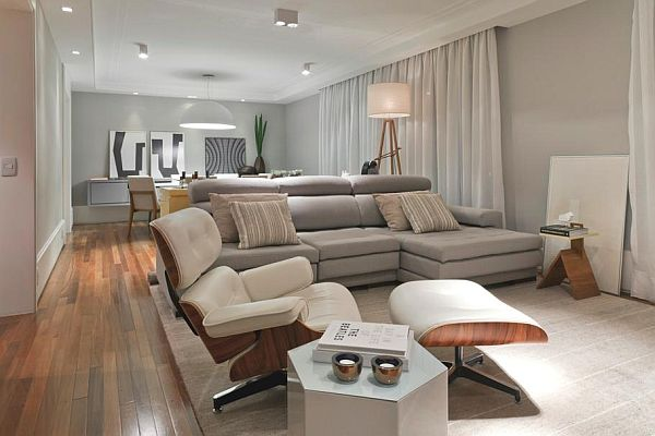 Modern apartment interior design in Braz