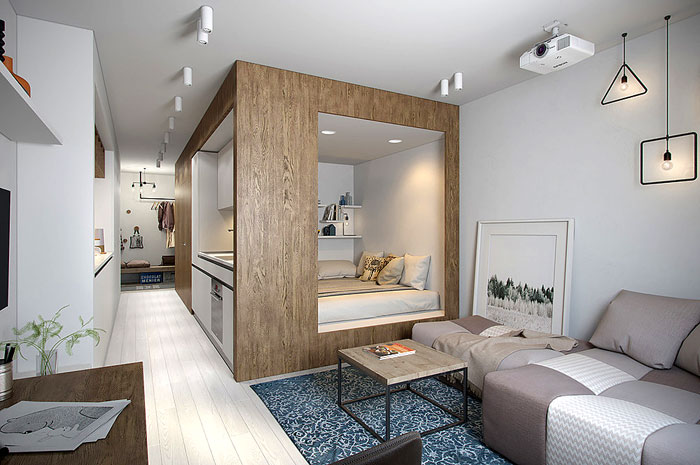 50 Small Studio Apartment Design Ideas (2020) – Modern, Tiny .