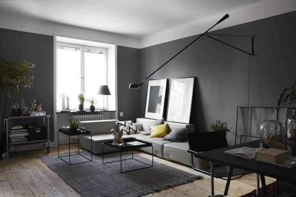 Masculine - Dark Apartment Interior Desi