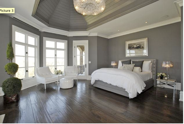Beautiful Bedrooms: 50 Shades of Grey - Colorblocked Grey and .