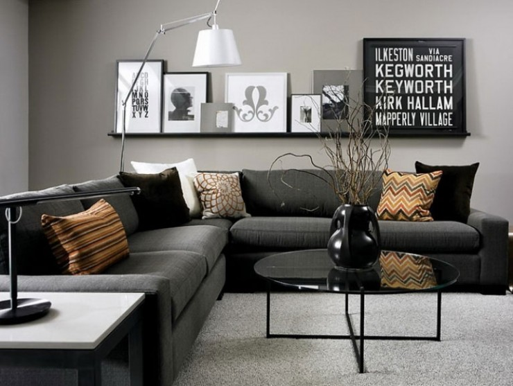 69 Fabulous Gray Living Room Ideas & Walls | Accent Colors | Decohol
