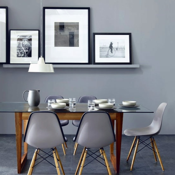 30 interior design ideas for wall paint in shades of gray – trendy .