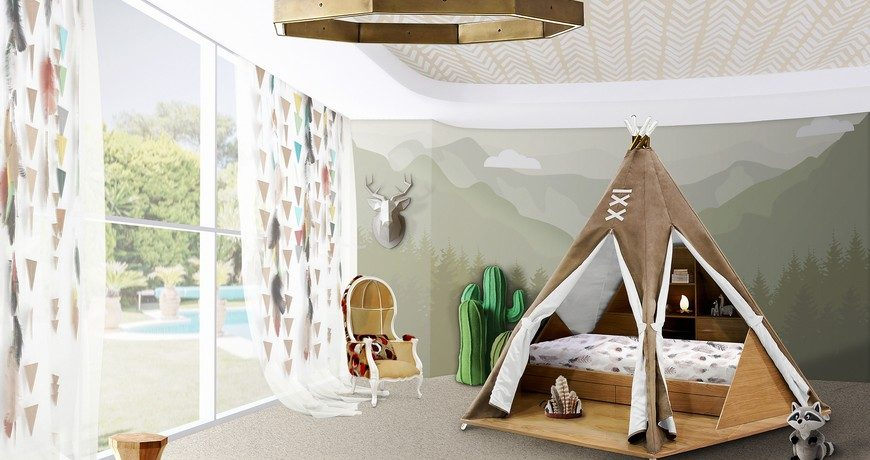 Kids Bedroom Design Ideas: A Tribal Furniture Family for Little Chie