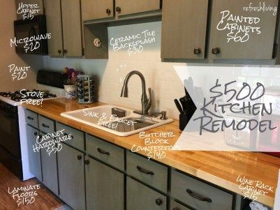 Updating a Kitchen on a Budget - 15 Awesome (& Cheap) Ideas .