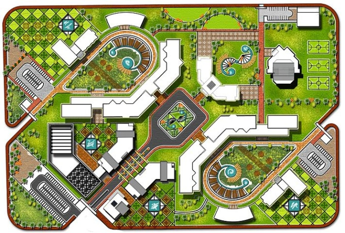 Do architectural plan, site plan and landscape design by Ghadabat