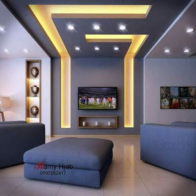 Latest modern pop false ceiling design for living room hall .
