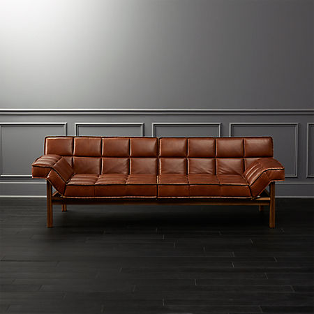 Drops Leather Sofa + Reviews | C