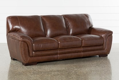 Cassidy Leather Sofa | Living Spac