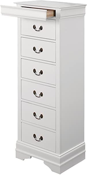 Amazon.com: Homelegance Quincy 7-Drawer Lingerie Chest, White .