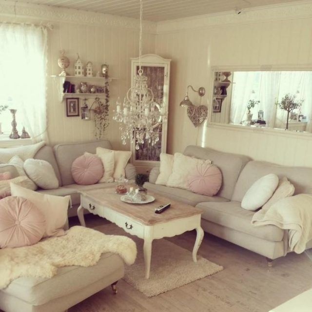 70+ Antique Shabby Chic Living Room Decorations Ideas | Chic .