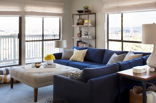 Beautiful Blue Sectional Sofa to Give Vary Interior Design | Blue .