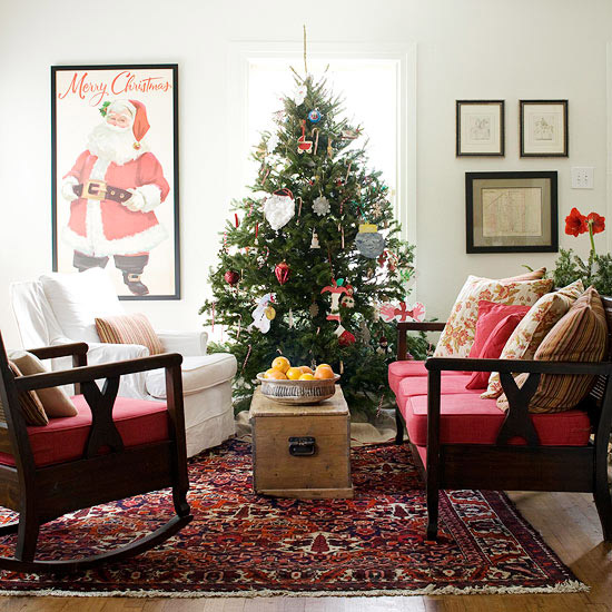 25 Christmas living room design ide