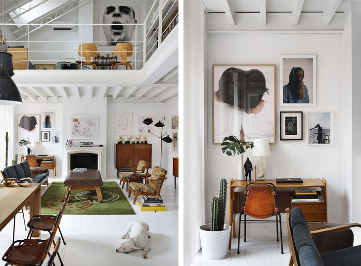 Mezzanine loft/ warehouse space - keeping light, white and bright .