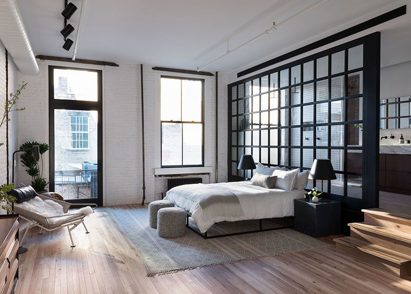 Bright New York loft with elevator right in the apartment | Дизайн .