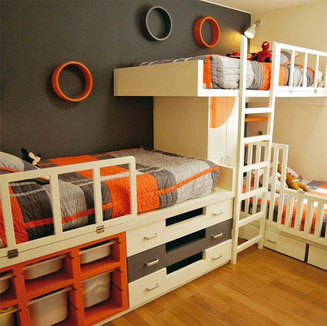 7+ Nice Triple Bunk Beds Ideas for Your Children's Bedroom | Bunk .