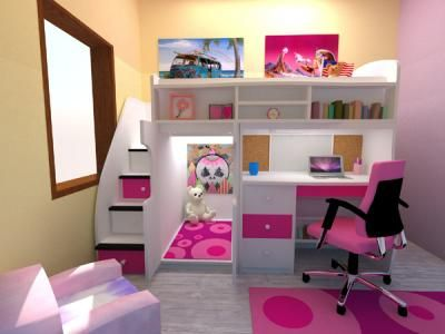 Loft Beds-I love this idea. Thinkn abt doing somethn similar with .
