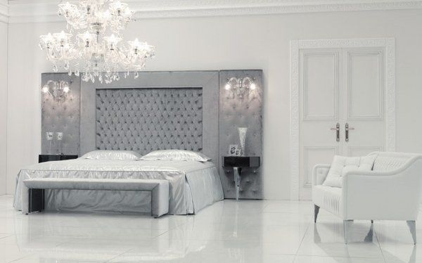 Tall headboards ideas – a dramatic wall decoration in the bedroom .