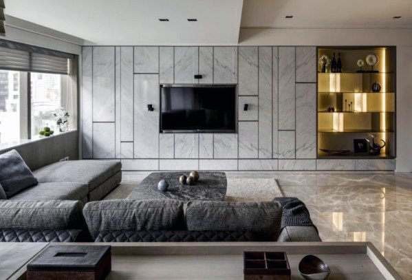 Top 70 Best TV Wall Ideas - Living Room Television Desig