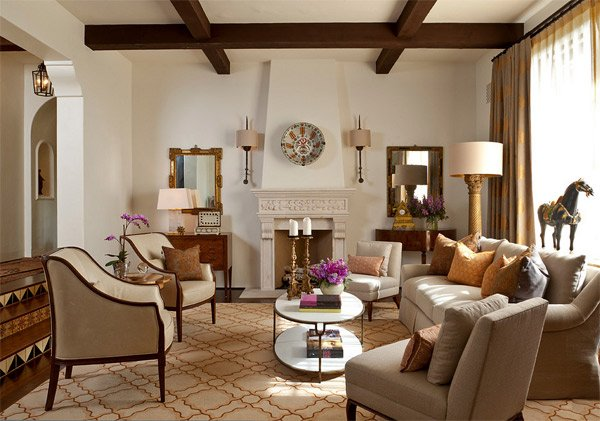20 Luxurious Design of a Mediterranean Living Room | Home Design Lov