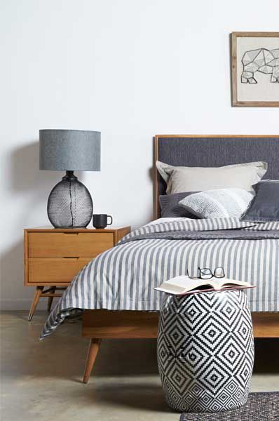 The Betty | Midcentury modern bedroom suite from Bedshed .