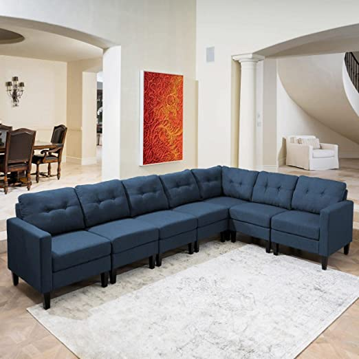 Amazon.com: Mid-Century Modern Style Sectional Sofa - Button .